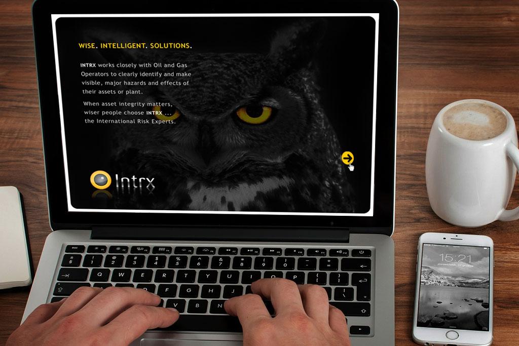 PowerPoint Slide Presentation Template Design & Branding for Intrx