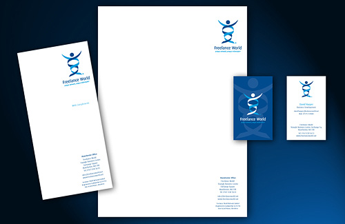 Corporate Identity Design and Branding of Business to Consumer Stationey Items for Freelance World