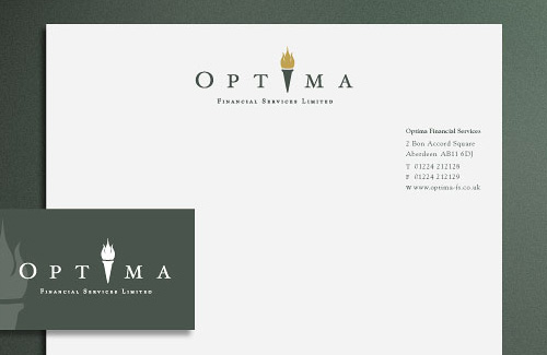 Branding and Corporate Identity Design for Optima Financial Services
