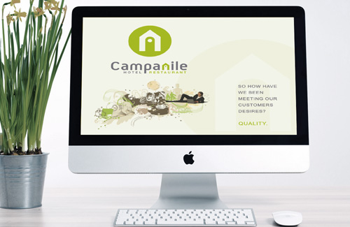 Staff Training PowerPoint Presentation Template for Hotel Campanile, U.K.