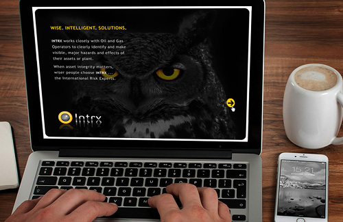Corporate Identity and Branding of Powerpoint Template Design for Intrx