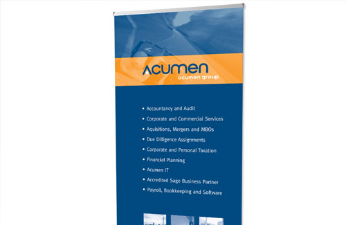 Portable Display System (Roller Banner) for Acumen Accountants & Advisors
