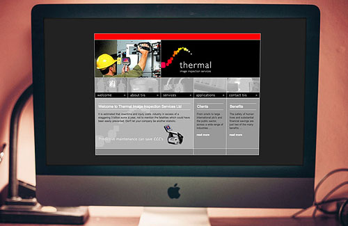 Website Design and Development for Thermal Image Inspection