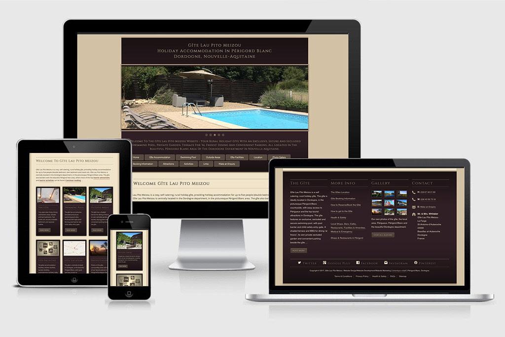 Responsive Website Development & Website Design for GÎte Lau Pito Meizou, Dordogne