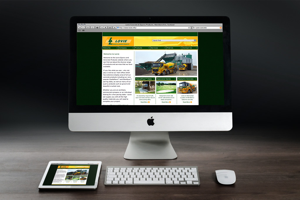 Website Development for Lovie Quarry & Concrete Products