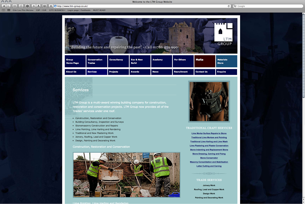 Website Design & Development for LTM Group