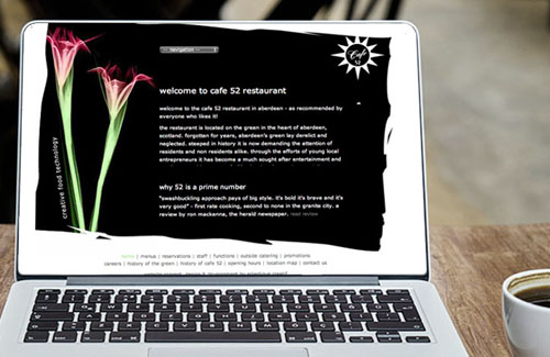 Website Design & Website Development for Cafe 52 Restaurant