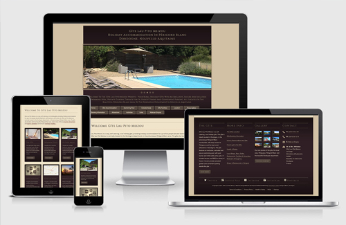 Responsive Website Design & Website Development for Gîte Lau Pito Meizou, Dordogne, France