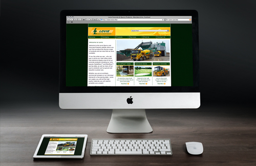 Website Design & Website Development for Lovie Quarry & Concrete Products